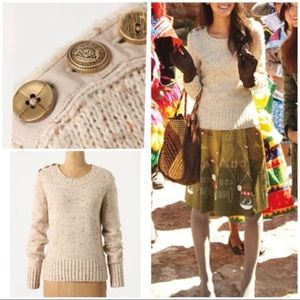 Charlie Robin Speckled Wool Button Detail Sweater